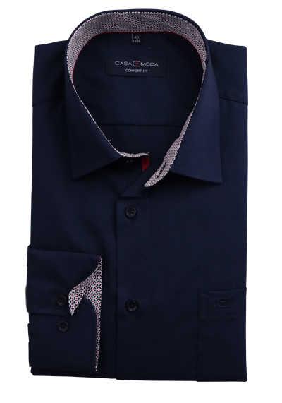 CASAMODA Comfort Fit Hemd Langarm New Kent Kragen nachtblau