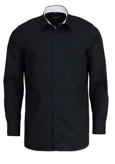 CASAMODA Comfort Fit Hemd Langarm New Kent Kragen schwarz