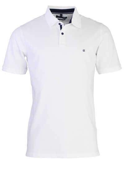 CASAMODA Poloshirt Halbarm Polokragen geknöpft weiß
