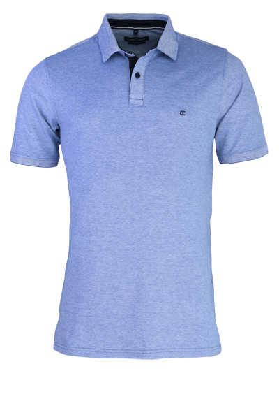 CASAMODA Poloshirt Halbarm Polokragen geknöpft blau