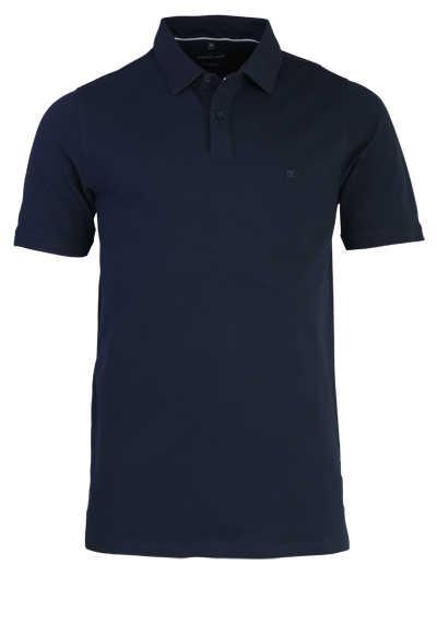 CASAMODA Poloshirt Halbarm Polokragen geknöpft dunkelblau