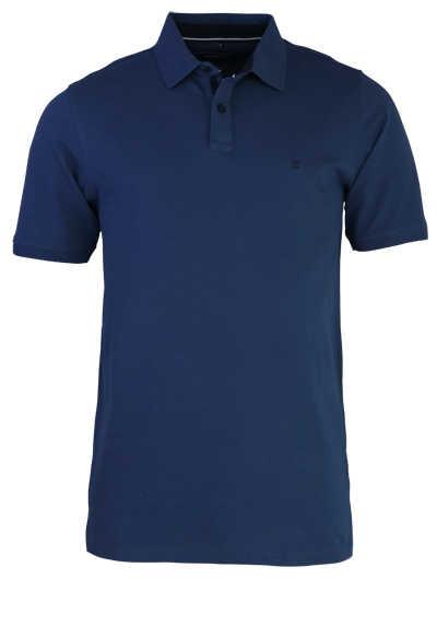 CASAMODA Poloshirt Halbarm Polokragen geknöpft navy