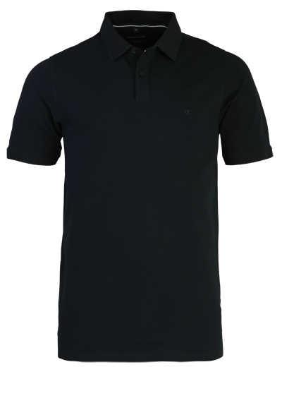 CASAMODA Poloshirt Halbarm Polokragen geknöpft schwarz