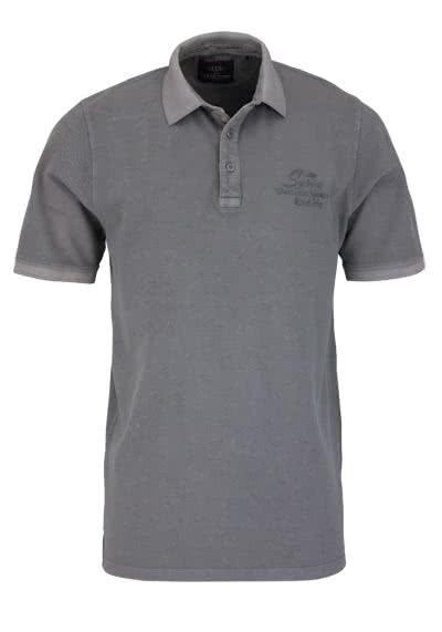 CASAMODA Poloshirt Halbarm reine Baumwolle graphit - Hemden Meister