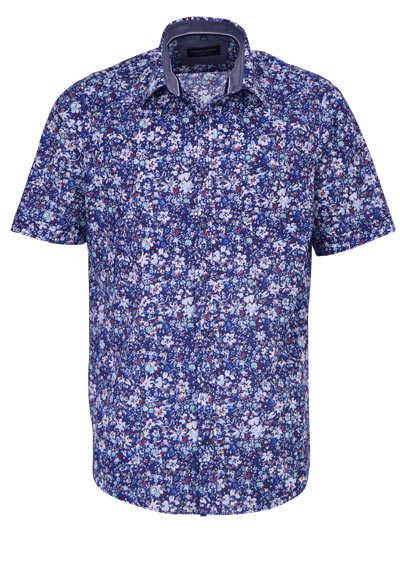 CASAMODA Comfort Fit Hemd Halbarm Muster dunkelblau - Hemden Meister