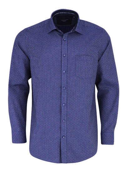 CASAMODA Comfort Fit Hemd Langarm New Kent Kragen Streifen blau - Hemden Meister