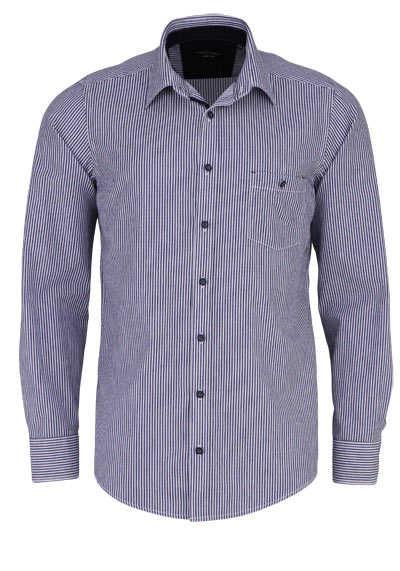 CASAMODA Casual Fit Hemd Langarm New Kent Kragen Streifen blau - Hemden Meister