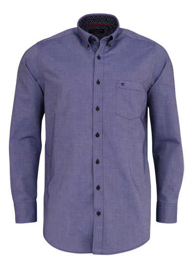 CASAMODA Comfort Fit Hemd Langarm Button Down Kragen Oxford dunkelblau
