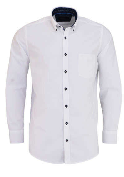 CASAMODA Comfort Fit Hemd Langarm Button Down Kragen Oxford weiß