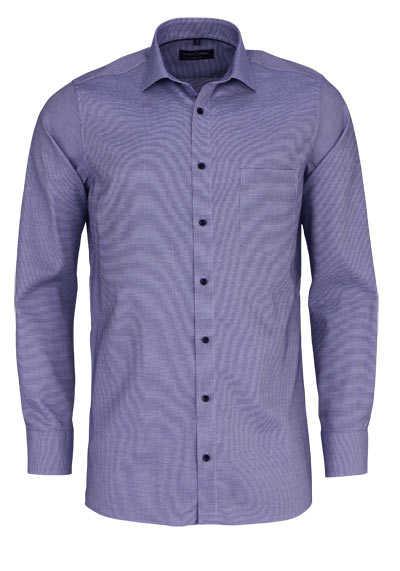 marvelis modern fit hemd extra langer arm blumenmuster blau. Black Bedroom Furniture Sets. Home Design Ideas
