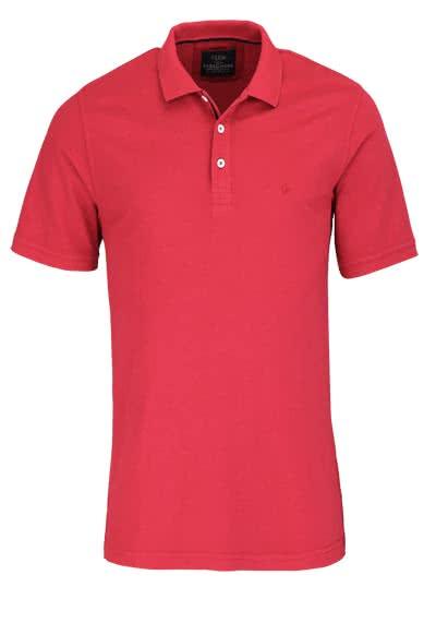 Casamoda Polo Shirt Anthrazit Kurzarm Normal Geschnitten Kragen mit 3-Knopf Auss