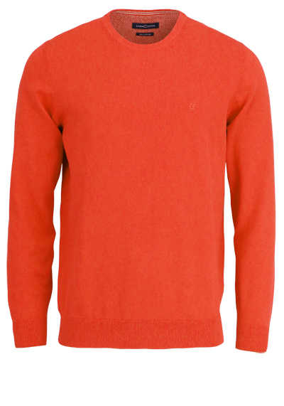 CASAMODA Pullover Langarm Rundhals Prima Cotton Strick orange