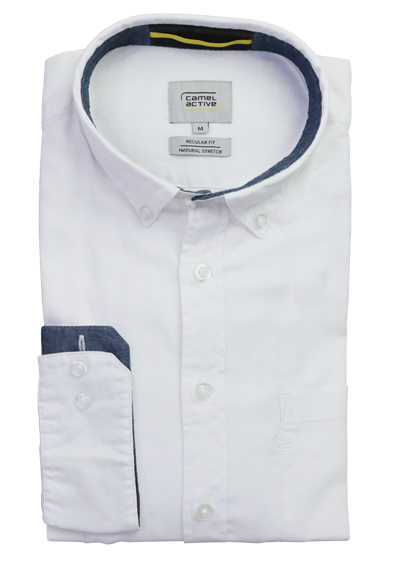 CAMEL ACTIVE Regular Fit Hemd Langarm geknöpft weiß