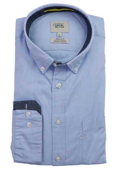 CAMEL ACTIVE Regular Fit Hemd Langarm geknöpft blau