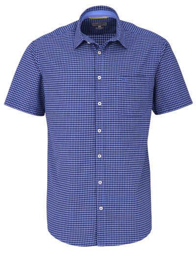 CAMEL ACTIVE Regular Fit Hemd Halbarm geknöpft Karo blau - Hemden Meister