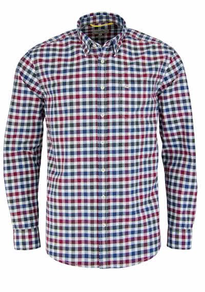 CAMEL ACTIVE Regular Fit Hemd Langarm Karo dunkelblau/rot/weiß/oliv - Hemden Meister