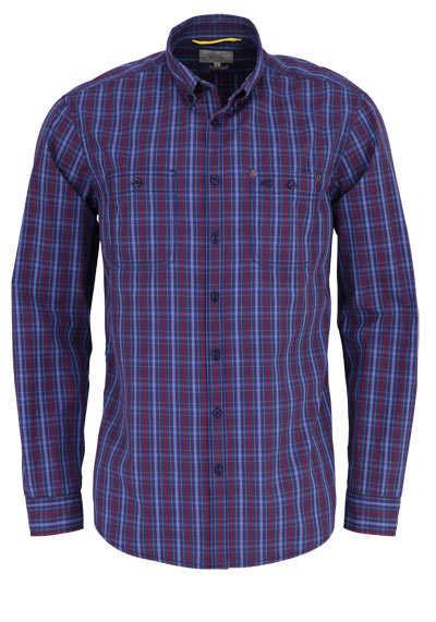 CAMEL ACTIVE Regular Fit Hemd Button Down Kragen Karo blau - Hemden Meister