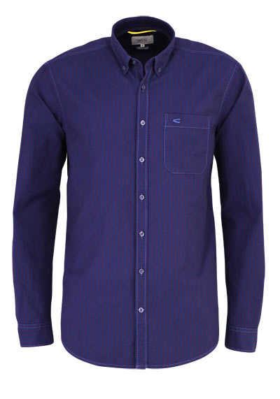 CAMEL ACTIVE Regular Fit Hemd Langarm Streifen dunkelblau - Hemden Meister
