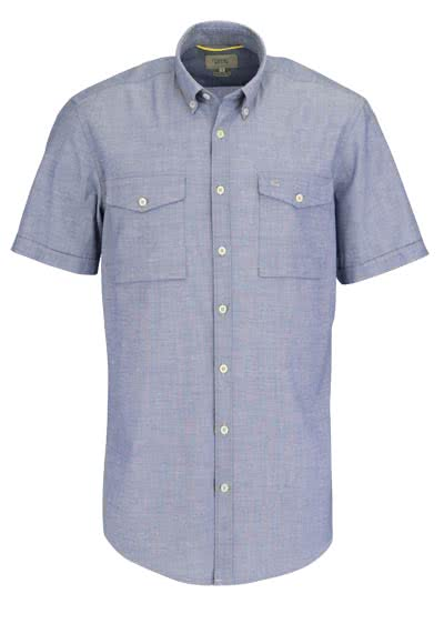 CAMEL AVTIVE Regular Fit Hemd Halbarm Brusttaschen rauchblau - Hemden Meister