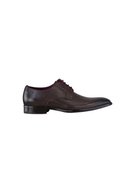DIGEL Schuh SIMON Glattleder Ziernähte schwarzbraun - Hemden Meister