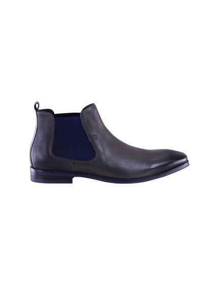 DIGEL Schuh STETSON Leder mit Absatz dunkelgrau - Hemden Meister