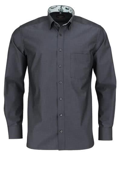 ETERNA Modern Fit Hemd extra langer Arm Brusttasche anthrazit - Hemden Meister