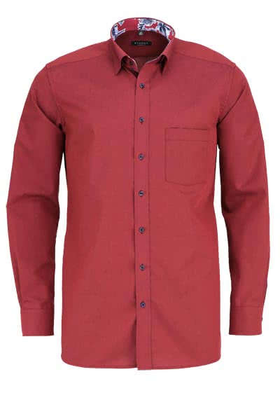 ETERNA Modern Fit Hemd extra Langarm Under Button Down Kragen weinrot - Hemden Meister