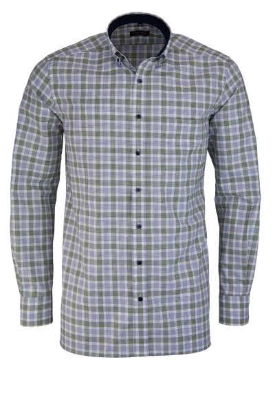 ETERNA Modern Fit Hemd extra langer Arm Karo grün - Hemden Meister