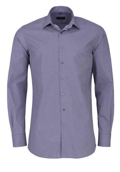 ETERNA Modern Fit Hemd extra langer Arm New Kent Kragen Muster grau - Hemden Meister