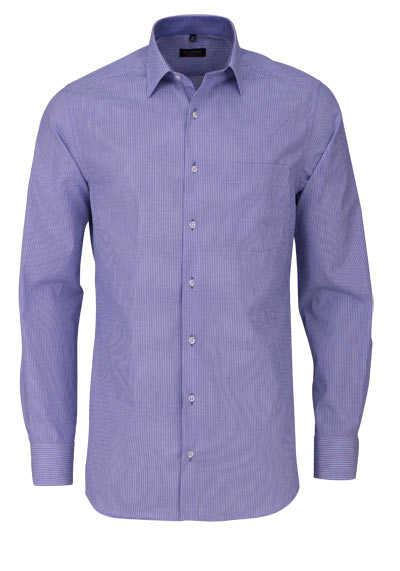 ETERNA Modern Fit Hemd extra kurzer Arm New Kent Kragen Streifen blau - Hemden Meister