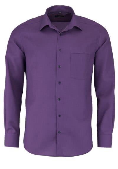 ETERNA Modern Fit Hemd extra langer Arm Struktur viola - Hemden Meister