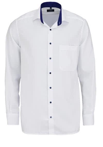 ETERNA Comfort Fit extra langer Arm Hemd New Kent Kragen Struktur weiß - Hemden Meister