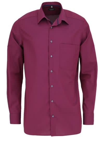 ETERNA Comfort Fit Hemd extra langer Arm New Kent Kragen beere - Hemden Meister