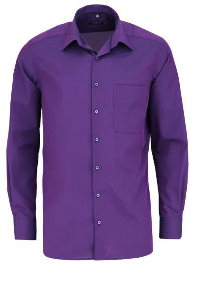 ETERNA Comfort Fit Hemd extra langer Arm New Kent Kragen lila - Hemden Meister