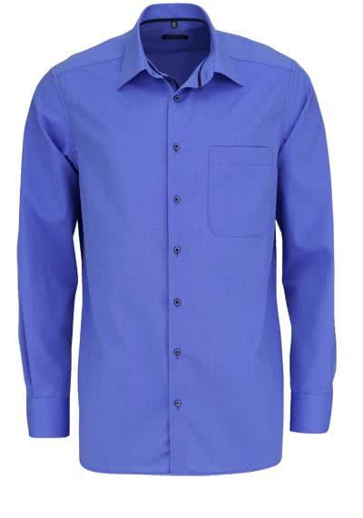 ETERNA Comfort Fit Hemd extra langer Arm New Kent Kragen mittelblau - Hemden Meister