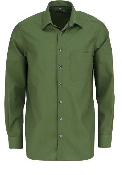ETERNA Comfort Fit Hemd extra langer Arm New Kent Kragen oliv - Hemden Meister