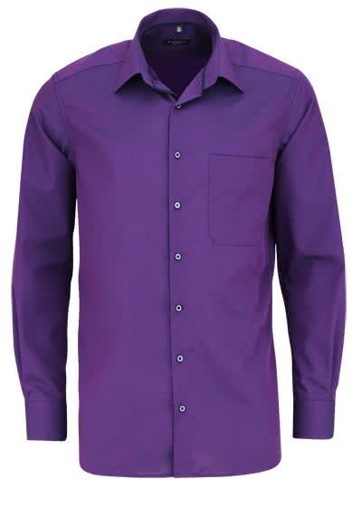 ETERNA Comfort Fit Hemd extra kurzer Arm New Kent Kragen lila - Hemden Meister