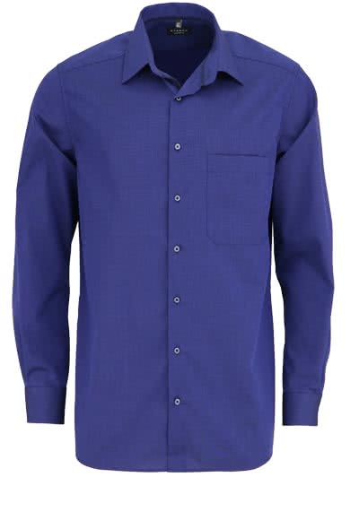 ETERNA Comfort Fit Hemd extra kurzer Arm New Kent Kragen nachtblau - Hemden Meister