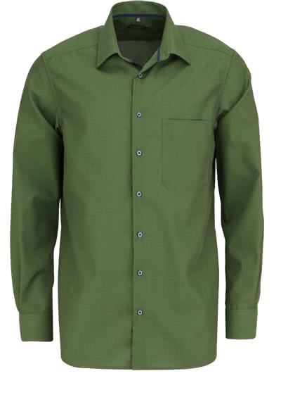 ETERNA Comfort Fit Hemd extra kurzer Arm New Kent Kragen oliv - Hemden Meister