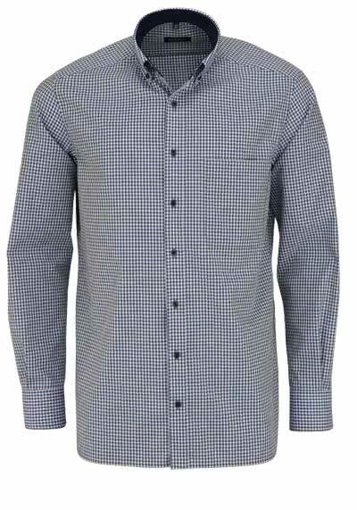 ETERNA Comfort Fit Hemd super langer Arm Button Down Kragen Karo grün - Hemden Meister