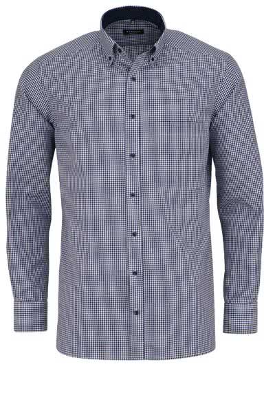 ETERNA Comfort Fit Hemd super langer Arm Karo dunkelblau - Hemden Meister