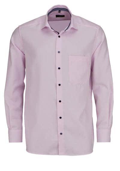 ETERNA Comfort Fit Hemd extra langer Arm New Kent Kragen Streifen rosa - Hemden Meister