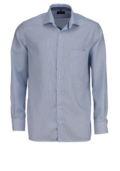 ETERNA Comfort Fit Hemd extra langer Arm Streifen hellblau - Hemden Meister