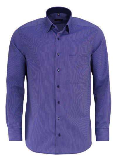 ETERNA Comfort Fit Hemd extra kurzer Arm Streifen dunkelblau - Hemden Meister