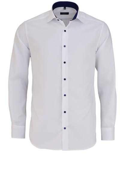 ETERNA Modern Fit Hemd extra langer Arm Struktur weiß - Hemden Meister