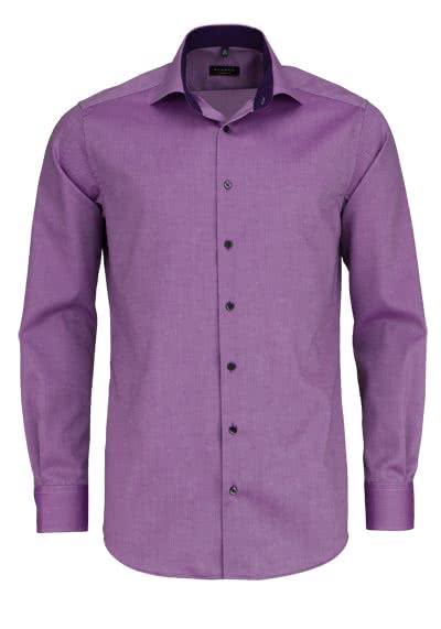 ETERNA Modern Fit Hemd extra langer Arm Struktur mauve - Hemden Meister