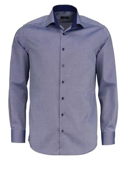 ETERNA Modern Fit Hemd super langer Arm Struktur rauchblau - Hemden Meister