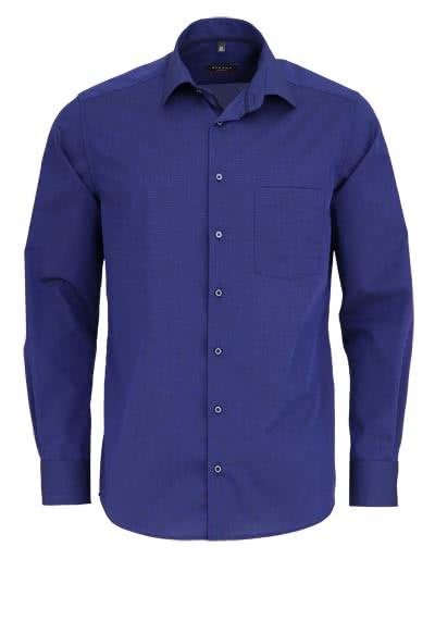 ETERNA Modern Fit Hemd extra kurzer Arm Fil à Fil nachtblau - Hemden Meister