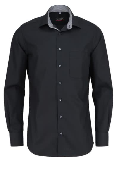 ETERNA Modern Fit Hemd extra langer Arm Fein Oxford schwarz - Hemden Meister