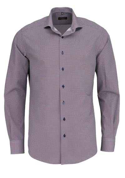 ETERNA Modern Fit Hemd extra langer Arm Muster nachtblau - Hemden Meister